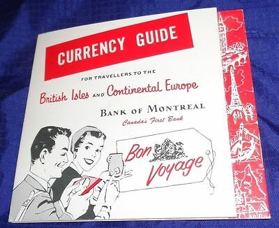 RP1659 Vtg Bank Of Montreal U.K. & Continental Europe Currency Guide 1963