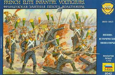 Zvezda 1/72 French Elite Infantry Voltigeurs # 8042