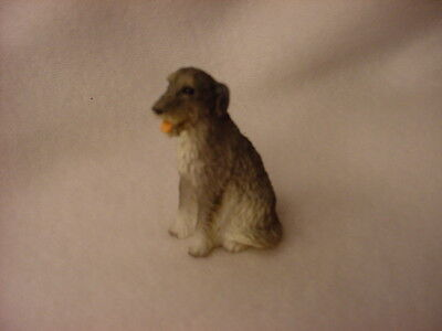 IRISH WOLFHOUND puppy TiNY Dog FIGURINE Resin PAINTED MINIATURE Mini Statue NEW