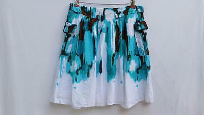 Jean Paul Richard, Size XL - 100% Cotton Beach Skirt With Pockets, Lined - Soft!