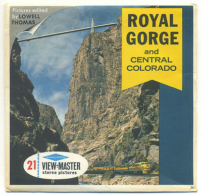 Royal Gorge and Central Colorado 1960's Sawyer's View-Master Packet A-323