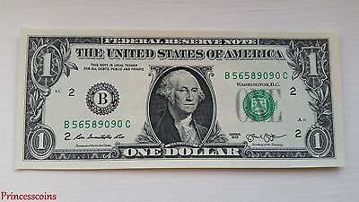 Unique*serial Number 9090 Uncirculated $1 One Dollar Bill Unc-