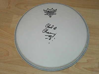 Chad Channing Nirvana  Signed Drumhead