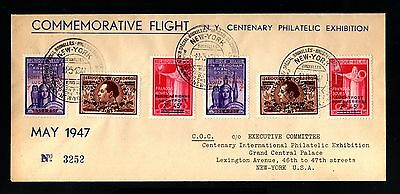15501-BELGIUM-AIRMAIL FLIGHT COVER BRUSSELS to NEW YORK (usa)1947.WWII.Luchtpost