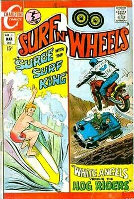SURF N' WHEELS #3 F, Surfing, Motorcycles, Charlton Comics 1970