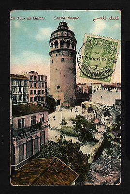 15861-TURKEY-OTTOMAN POSTCARD PERA (constantinople) to BORDEAUX (france)1919.
