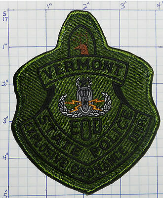 Vermont State Police Dept Explosive Ordnance Disposal Subdued Patch