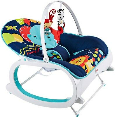 NEW Baby Fisher Price Infant-To-Toddler Rocker Seat Bouncer Sleeper Feeding BN