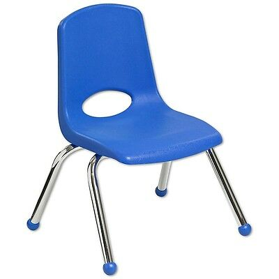 "ECR4Kids 6 Pack 12"" Stack Chair - Blue"
