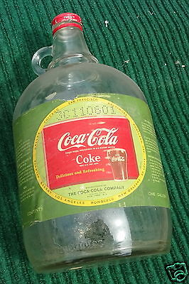Vintage Coca Cola Coke Gallon Syrup Bottle Jug from 1950s 1950's