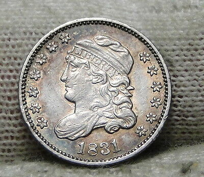 1831 Capped Bust Half Dime H10C 5 Cents - Nice Old Coin, Free Shipping  (6193)