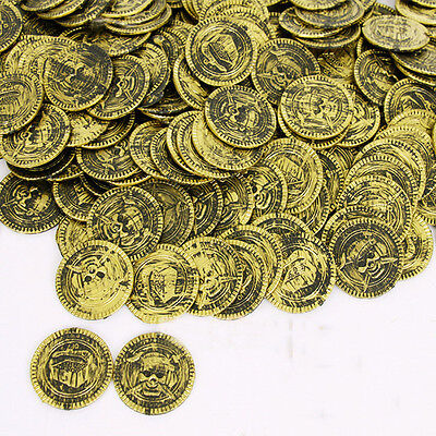 50 Pieces Pirates of the Caribbean Cosplay Gold Coins Halloween Party Game Props