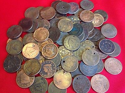 (3) Early U.S. Large Cent CULL Coins / 1808-1857 / Historic Antique Money