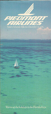 Piedmont Airlines system timetable 12/15/85 [308PI] Buy 2 Get 1 Free