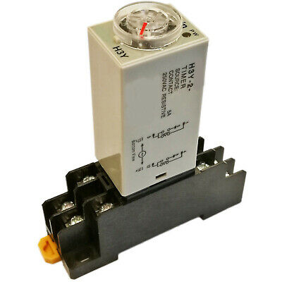 US Stock  Omron DC 12V H3Y-2 Delay Timer Time Relay 0-3M Minute & Base Socket