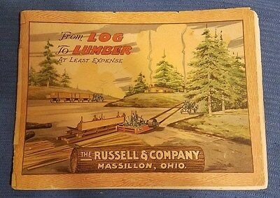 Russell & Company - From Log to Lumber - Saw Mill Catalog 1920s ORIGINAL