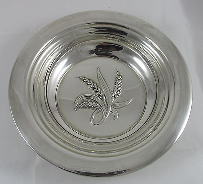 Vintage Reed & Barton Sterling Silver Wheat Round Candy Dish Bowl