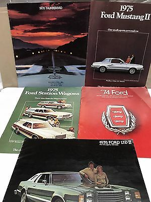 5 Ford Sales Brochures 1974 To 1978