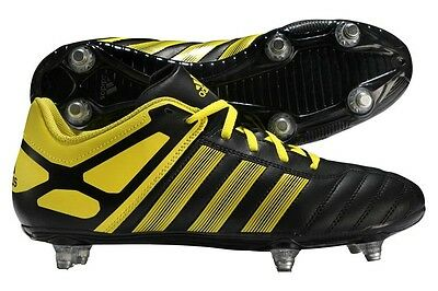 Adidas R15 Soft Ground Rugby Boots 6 Stud SG 2015 Black/Yellow