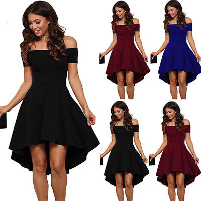 2017 Womens Summer Casual Off-Shoulder Party Evening Cocktail Swing Short Dress