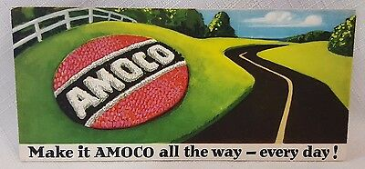 Amoco Gas Oil Gas Station Blotter Advertising Card Vintage Original Automotive