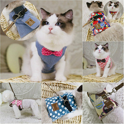 Pet Control Harness and Leash Collar for Small Dog Cat Strap Vest Soft Chest