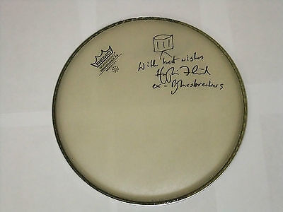 Hughie Flint Eric Clapton  Signed Drumhead