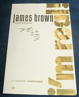 James Brown Signed Poster