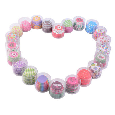 100pcs Disposable Cake Baking Paper Cup Cupcake Muffin Cases Home Baking Cups