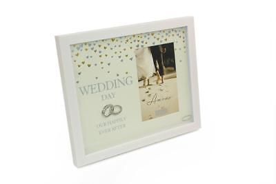 Wedding Day Photo Frame Gift Box With Intertwined Rings 4 x 6 WG897WD