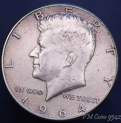 1964 USA US Kennedy very nice Half Dollar Silver 90% coin *[9491]