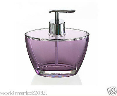 New Acrylic Purple Manual Control Hand Sanitizer Machine Soap Dispenser &$