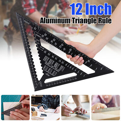 12''Aluminium Roofing Quick Square Rafter Angle Frame Measuring Carpenter LARGE