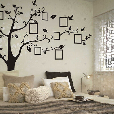 Fashion Family Photo Tree Bird Wall Stickers Wall Decals Wall Quotes Stickers