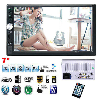 "7"" Touchscreen Double 2Din In Dash Car Stereo Radio Mp5 DVD Bluetooth TV Player"