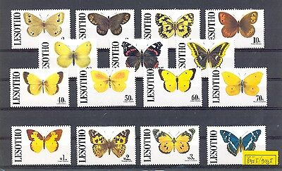 South Africa  Lesotho  1991   15 Stamps  Butterfly   **  Mnh Vf
