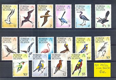 English Colony Turks Caicos Islands  1973  16  St.   Birds  **  Mnh Vf   @2