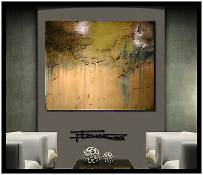 ABSTRACT CANVAS WALL ART PAINTING Original/Reproduction Large signed ELOISExxx
