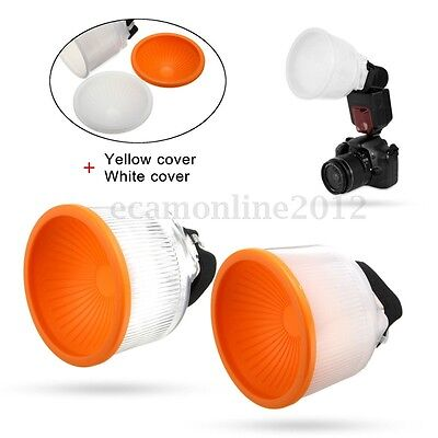 Universal Cloud lambency flash diffuser White dome cover Set and fit all flashes