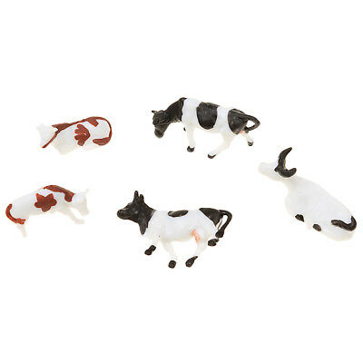5PCS Sand Table Mixed Farm Animals Painted Cow Mold Sandbox Game Toy Model