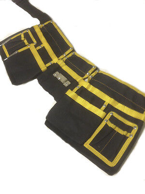 TOOL WORK APRON BELT MULTI 11 POCKET POUCH ADJUSTABLE Carpenters Builder Nail