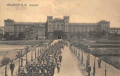 Heilbronn Germany A.n. Kaserne Marching Soldiers Ww1 Military Postcard 1912