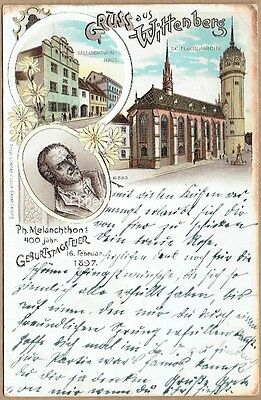 Gruss Aus Wittenberg, Germany - Superb 1897 Postcard