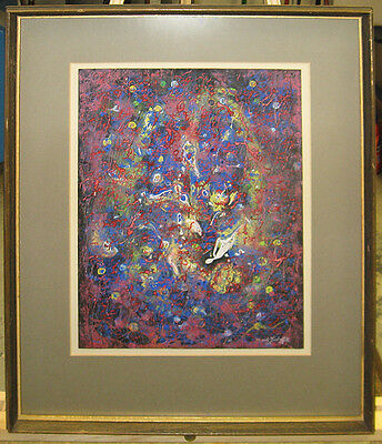 Mark Turbyfill '65 Abstract Expressionist Ptg Noted Chicago Artist, Poet, Dancer