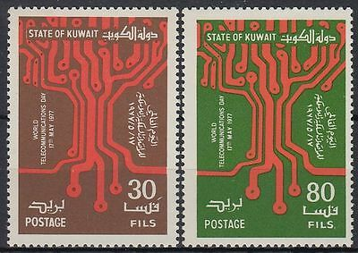 Kuwait 1977 ** Mi.739/40 Weltfernmeldetag World Telecommunication Day