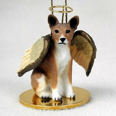 BASENJI Dog ANGEL Ornament Figurine Statue Resin NEW Christmas puppy
