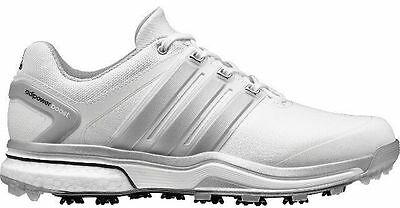 NEW Adidas AdiPower Boost White/Silver Golf Shoes Mens Size 9.5 Medium