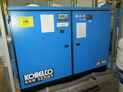 KOBELCO KNW Air Compressor 200 HP Oil Free Rotary Screw Two Stage KNW1-G/H