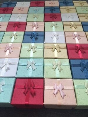 Wholesale Joblot 20 Mixed Pastel Colour Ring Boxes, Jewellery Boxes, Packaging
