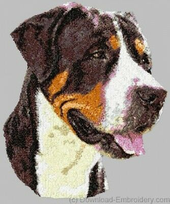 Embroidered Short-Sleeved T-Shirt - Greater Swiss Mountain Dog DLE1549